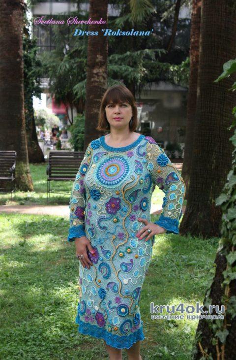 Платье Роксолана выполнено в технике ирландского кружева