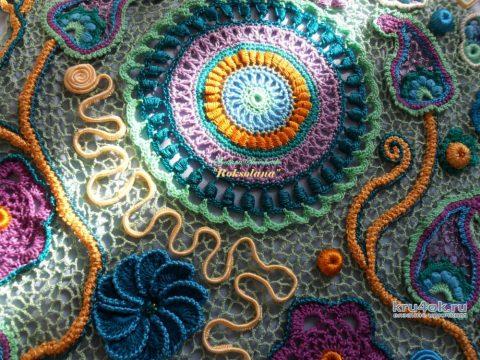 Платье Роксолана выполнено в технике ирландского кружева вязание и схемы вязания