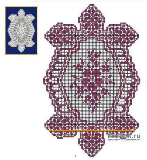 Салфетка черепашка крючком. Работа Людмилы Петровой вязание и схемы вязания