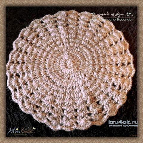 Салфетка из джута крючком. Работа Alise Crochet вязание и схемы вязания