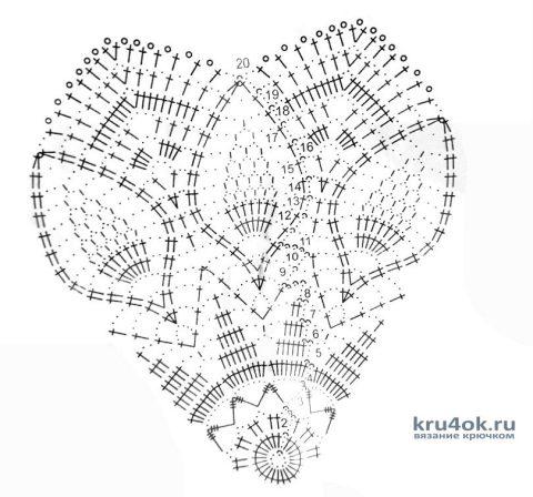 Салфетка крючком. Работа Евдокии вязание и схемы вязания