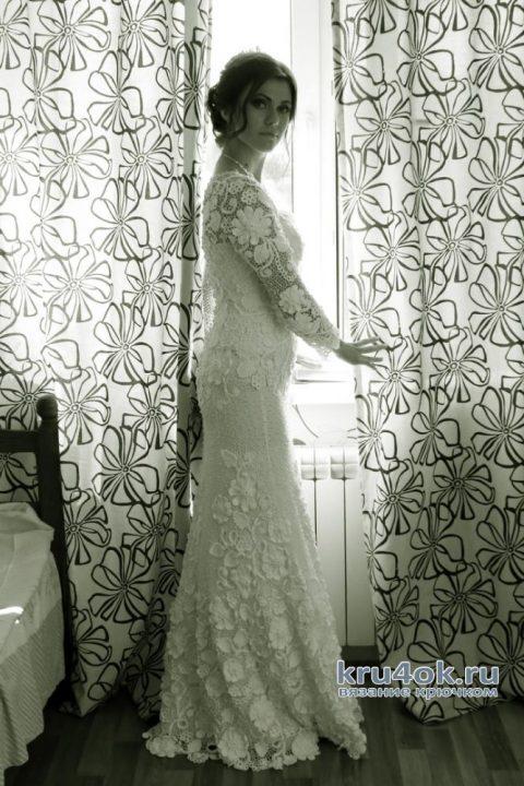 Свадебное платье крючком. Работа Светланы вязание и схемы вязания
