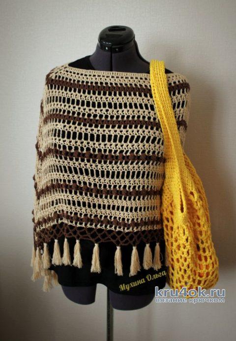 Вязанная крючком авоська. Работа Мухиной Ольги вязание и схемы вязания