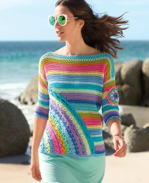 вязание женского пуловера фото