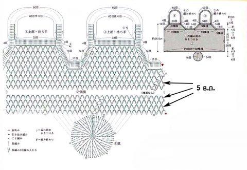 Схема вязания авоськи крючком