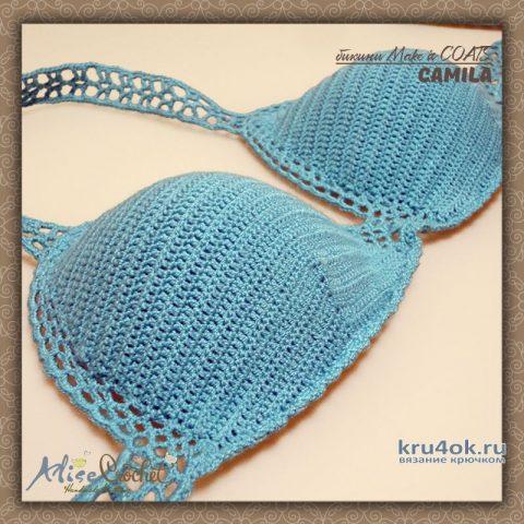 Купальник/бикини Make it COATS Camila. Работа Alise Crochet вязание и схемы вязания