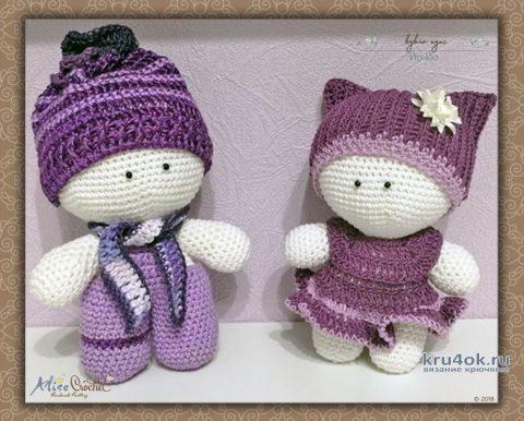 Милые вязаные пупсы Йо-Йо. Работа Alise Crochet вязание и схемы вязания
