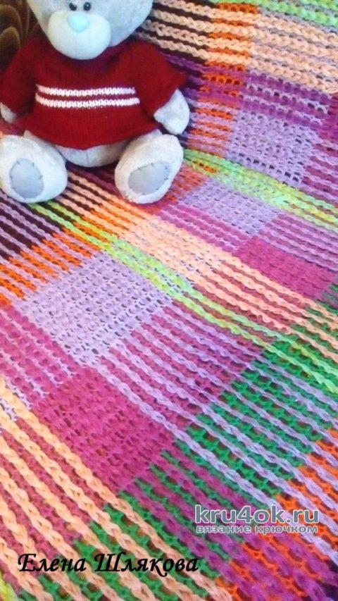 Плед связанный крючком. Работа Елены Шляковой вязание и схемы вязания