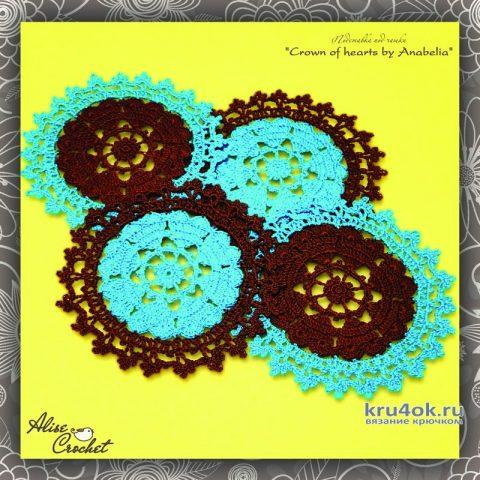 Салфетка Crown of hearts by Anabelia. Работа Alise Crochet