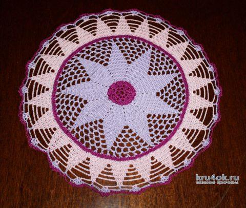 Салфетка Звезда. Работа Екатерины вязание и схемы вязания