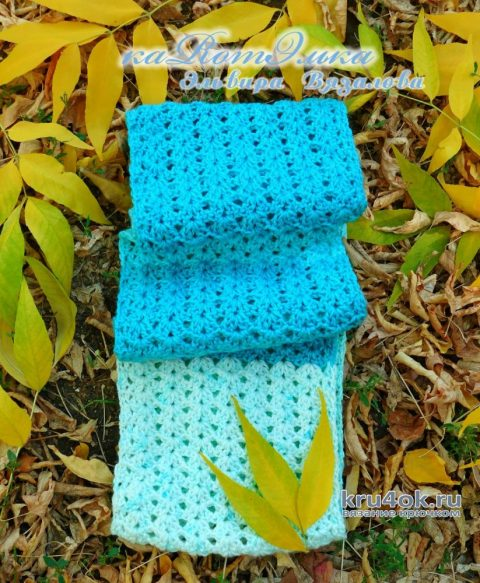 Снуд на осень в 2 оборота от мастерицы Эльвиры Вязаловой вязание и схемы вязания
