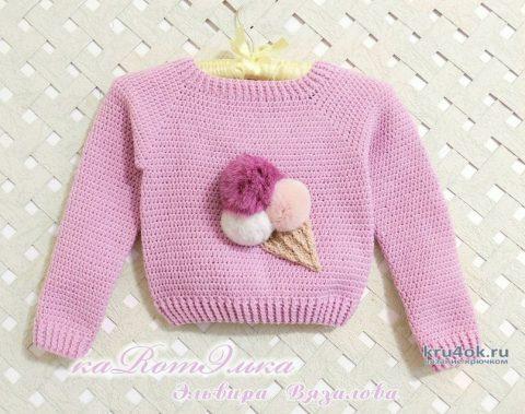 Вкусный свитерок для девочки от мастерицы Эльвиры Вязаловой