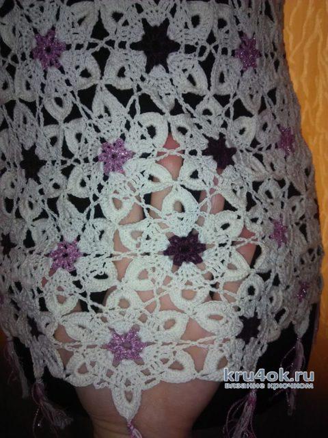 Вязанный крючком топ. Работа Натали Крафт вязание и схемы вязания