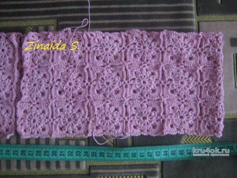 Ажурный жакет крючком. Работа Зинаиды вязание и схемы вязания