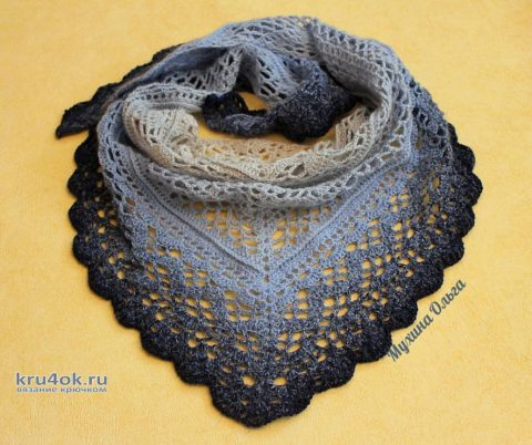 Бактус Морозная свежесть. Работа Мухиной Ольги вязание и схемы вязания