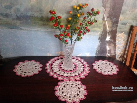 Чайные салфетки из пакетов. Работы Анны вязание и схемы вязания