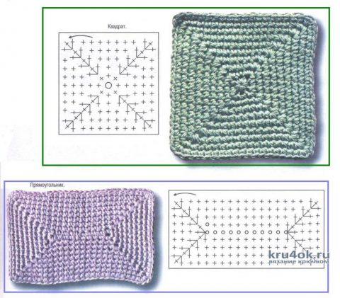 Корзинки из трикотажной пряжи, схемы вязания: