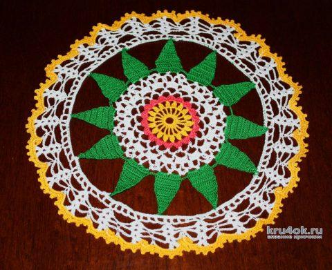 Салфеточка крючком. Работа Екатерины вязание и схемы вязания