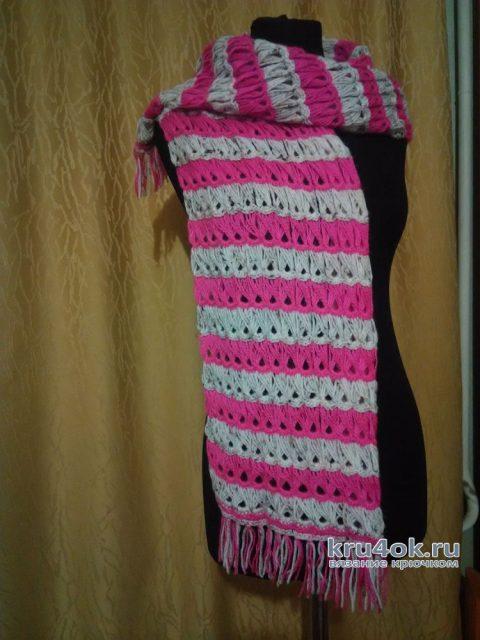 Шарф в технике брумстик. Работа Натали Крафт вязание и схемы вязания