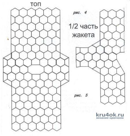 Схема вязания и сборки кофточки: