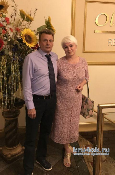 Женское платье Букет сирени. Работа Евгении Руденко