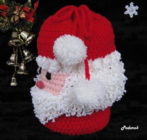 Мешок для подарков крючком Дедушка Мороз