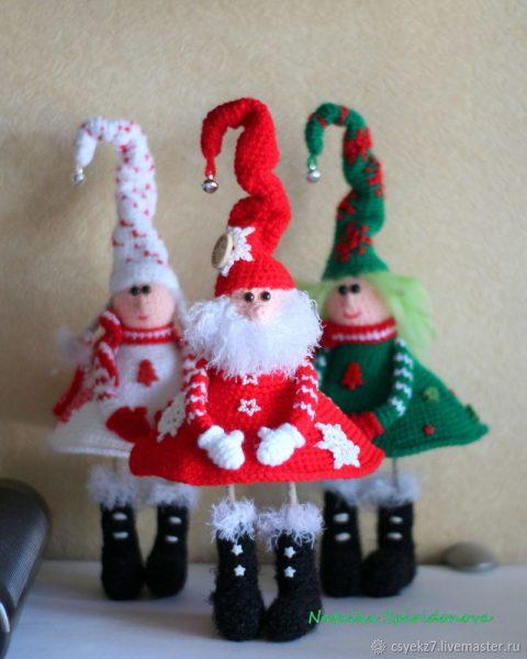 Мастер - класс, оригинальный Дед Мороз крючком