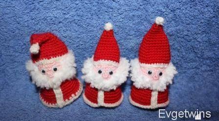 Маленький Дед Мороз крючком, автор Evgetwins
