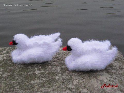 Пинетки крючком Лебединое озеро