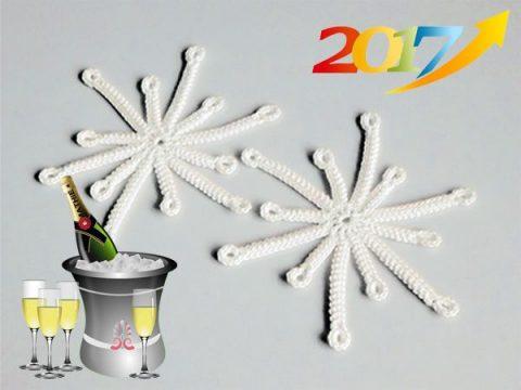 Вяжем снежинку крючком, описание для начинающих