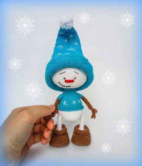 Снеговик крючком от Екатерины Бондаренко