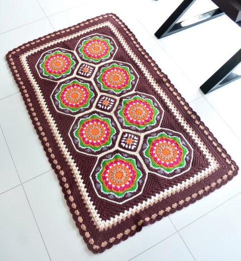 Персидский ковёр крючком