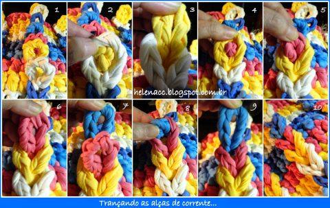 схема вязания корзинки из трикотажной пряжи