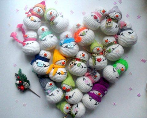Маленькие снеговички от Анны Дарануца
