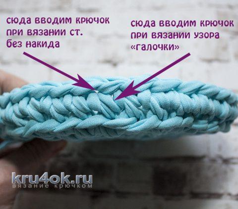 Узор галочки из трикотажной пряжи