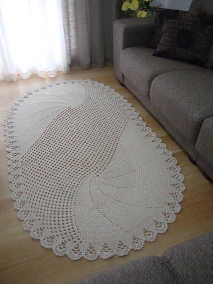 Простой овальный коврик