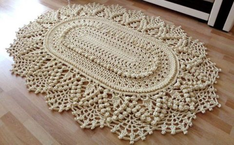 Вязание крючком ковриков на пол