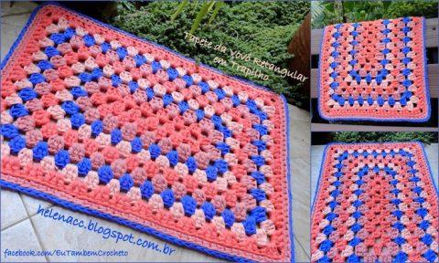 Вязание крючком прямоугольных ковриков для дома: