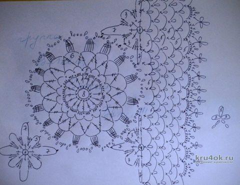 Ажурный жакет из круглых мотивов Летнее небо. Работа Евгении Руденко вязание и схемы вязания
