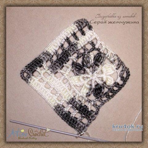 Безрукавка из мотивов Серая жемчужина. Работа Alise Crochet вязание и схемы вязания