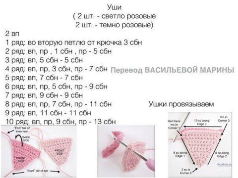 Хрюшка с крыльями Pippa Pig. Работа Alise Crochet вязание и схемы вязания