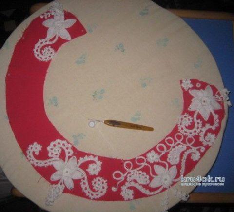 Комплект связан в стиле Ирландского кружева. Работа Зинаиды вязание и схемы вязания