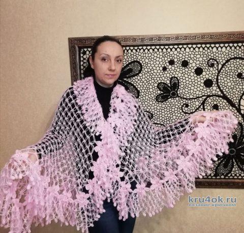 Палантин Розовое облако. Работа Евгении Руденко вязание и схемы вязания