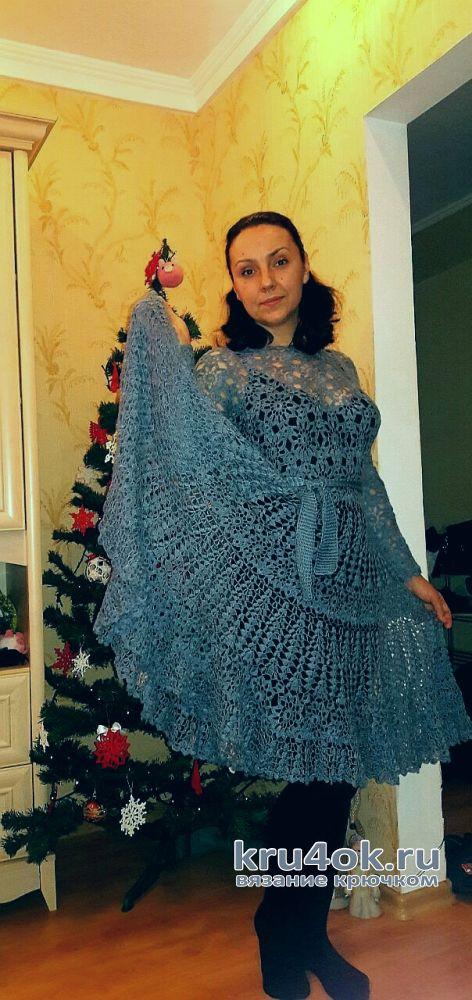 Платье Утренний туман. Работа Евгении Руденко вязание и схемы вязания