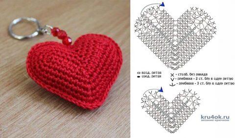 Сердечко крючком. Работа Анны вязание и схемы вязания