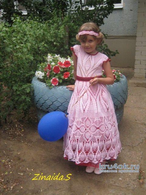 Выпускное платье для девочки. Работа Зинаиды