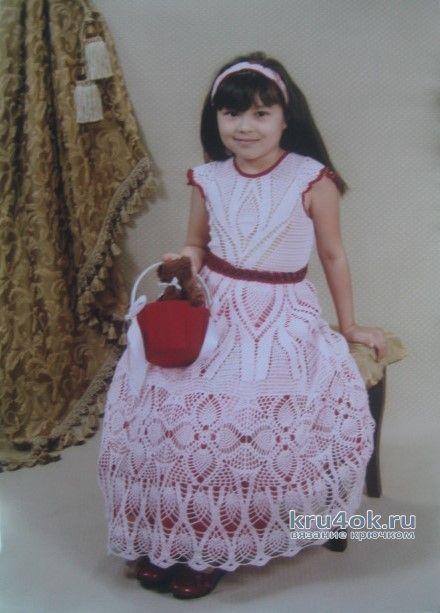 Выпускное платье для девочки. Работа Зинаиды вязание и схемы вязания