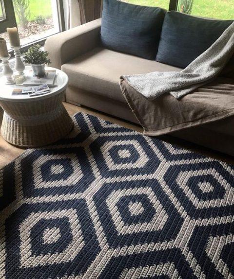 Схемы вязания ковриков крючком в технике жаккард