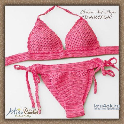 3441a7ac09261 Бикини купальник крючком ANDI BAGUS DAKOTA. Работа Alise Crochet