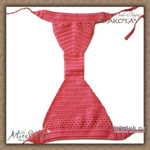 Бикини купальник крючком ANDI BAGUS DAKOTA. Работа Alise Crochet вязание и схемы вязания